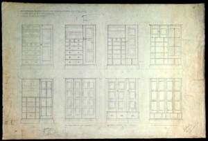 Waals' design for a wardrobe c1937