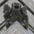 Medieval gargoyle on the tower of Theddingworth church. Photo by David Morley
