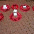 The wreathes laid as part of the Remembrance Service on 11.11.14