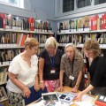 Volunteers carry out research at Loughborough Library.