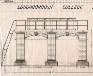 Detail of drawing for foundations for the Watt Beam Engine 1934 (Loughborough University Archives)