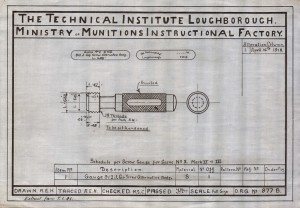 Drawing of a Limit Gauge 1918