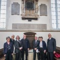 Representatives of the Charnwood Great War Project team who worked to re-site the memorials at All Saints with Holy Trinity Church in Loughborough.