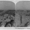'Scene from the barricaded city wall - Peking China'.