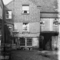 The rear yard of The Bulls Head, Loughborough, prior to High Street being widened in the late 1920s.  Photo courtesy of leicestershirevillages.com