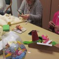 Participants making toys and games for the 8 story sacks produced as part of the project.