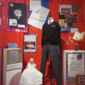 The gallery display created by students from the Roundhill Academy, Thurmaston.