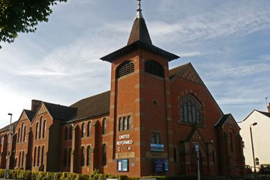 The United Reform Church on Frederick Street, Loughborough.  Photo courtesy of Colin Price.